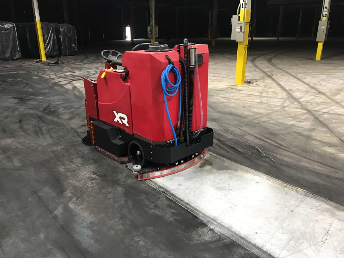 Factory Cat XR Ride-On Floor Scrubber