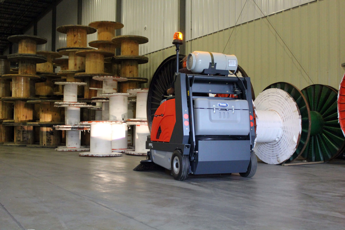 PowerBoss Apex 58 Rider Sweeper in Warehouse