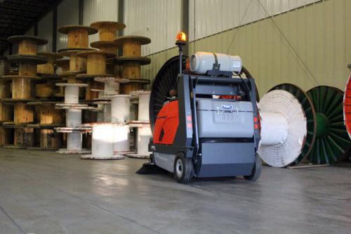 PowerBoss Apex 58 Rider Sweeper in Warehouse