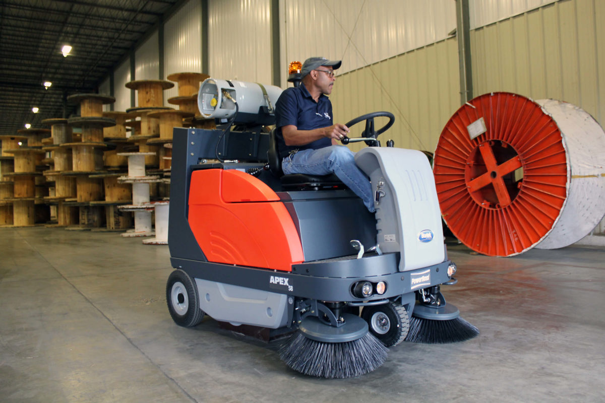 PowerBoss Apex 58 Sweeper in Warehouse