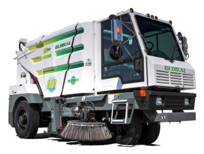 Global Environmental R3 Three Wheeled Street Sweeper- Stock Photo