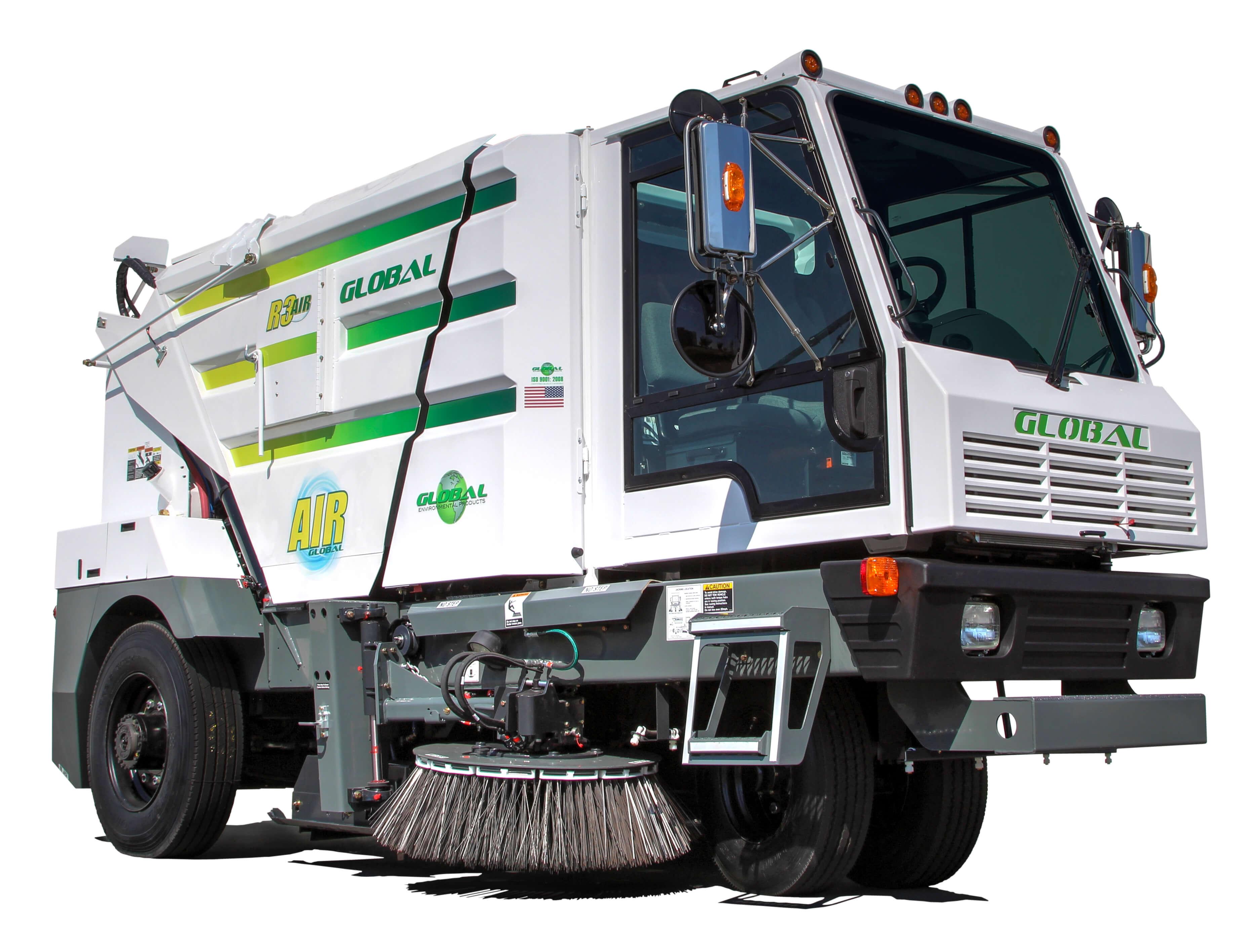 Global Environmental R3 Three Wheeled Street Sweeper- Stock Photo