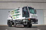 Global Environmental R3 Three Wheeled Street Sweeper- glamor shot