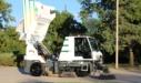 Global M3 Street Sweeper Emptying Hopper