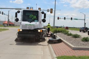 Global M3 Street Sweeper Fully Articulating Broom - Bortek Industries, Inc.