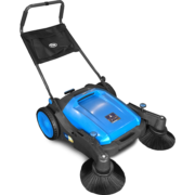 Hammerhead 950MS- 950mm - 36 inch manual walk behind sweeper front right side