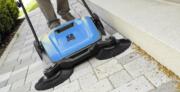Hammerhead 950MS- 950mm - 36 inch manual walk behind sweeper- sweeping sidewalk