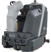 Advance SC6000- Rider Scrubber Disc and Cylindrical Front Side View