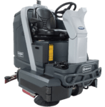 Advance SC6000- Rider Scrubber Disc and Cylindrical Front Side View 3