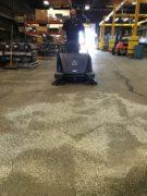 hammerhead-900sx-walk-behind-battery-powered-sweeper-sweeping-before