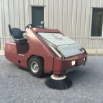 powerboss-armadillo-9xr-rider-lp-propane-sweeper-pre-owned-used-cleaning-equipment-front-view