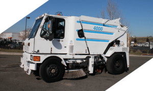 Johnston 4000 Street Sweeper Municipal Parking Lots