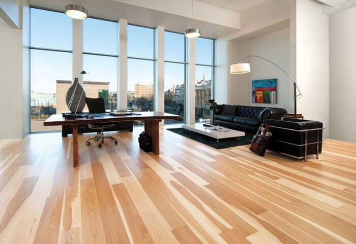 Clean hardwood office floors