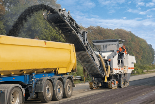 Milling process street sweepers