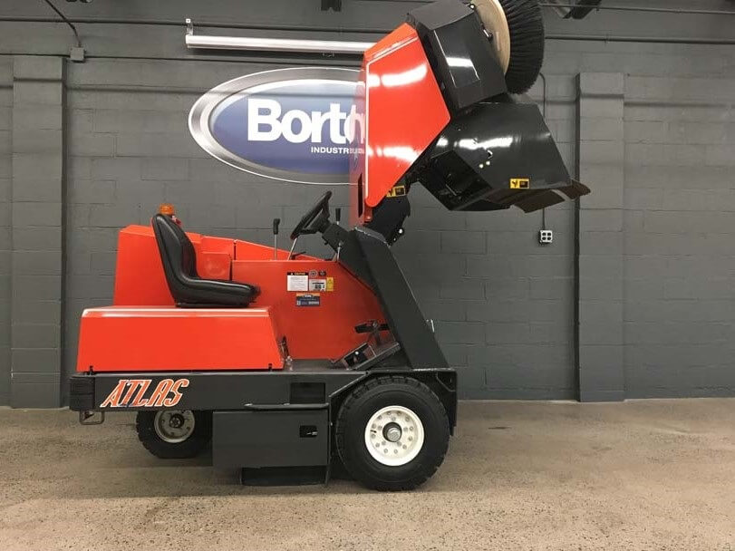 PowerBoss Atlas Sweeper Raised Hopper