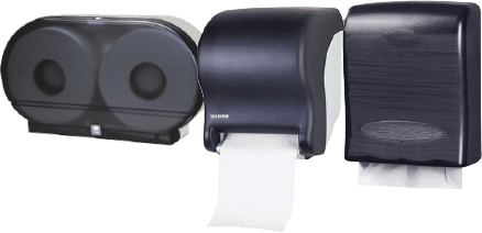 Toilet Paper and Paper Towel Dispensers for Restrooms