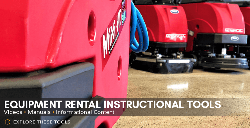 floor scrubber rental instructions