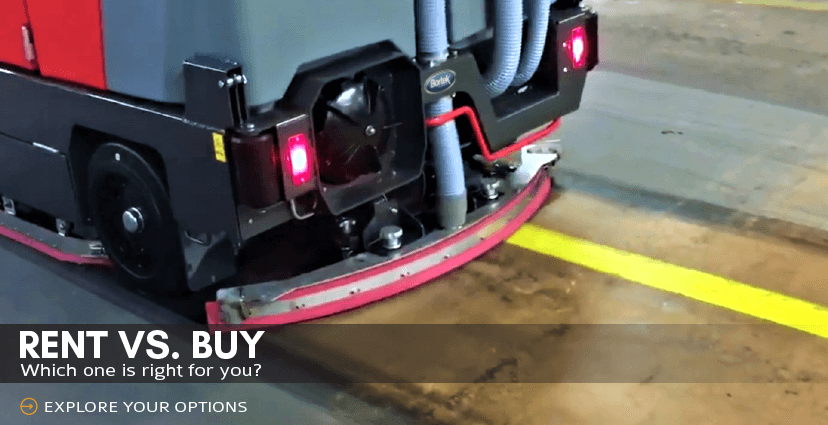 floor sweeper rental vs buying new