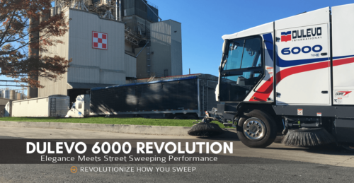 Dulevo 6000 Revolution Street Sweeper from Bortek Industries Cleaning at Purina