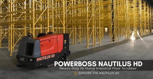 PowerBoss Nautilus Hi-Dump Rider Sweeper/Scrubber