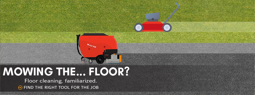 Mowing the… floor?