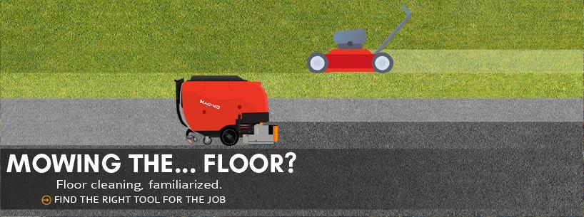 Mowing the… floor?