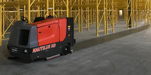 PowerBoss Nautilus HD Rider Floor Scrubber Sweeper - Bortek Industries