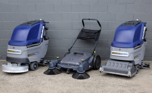 Hammerhead 500SS, 900MS, and 500RSX scrubbers and sweepers