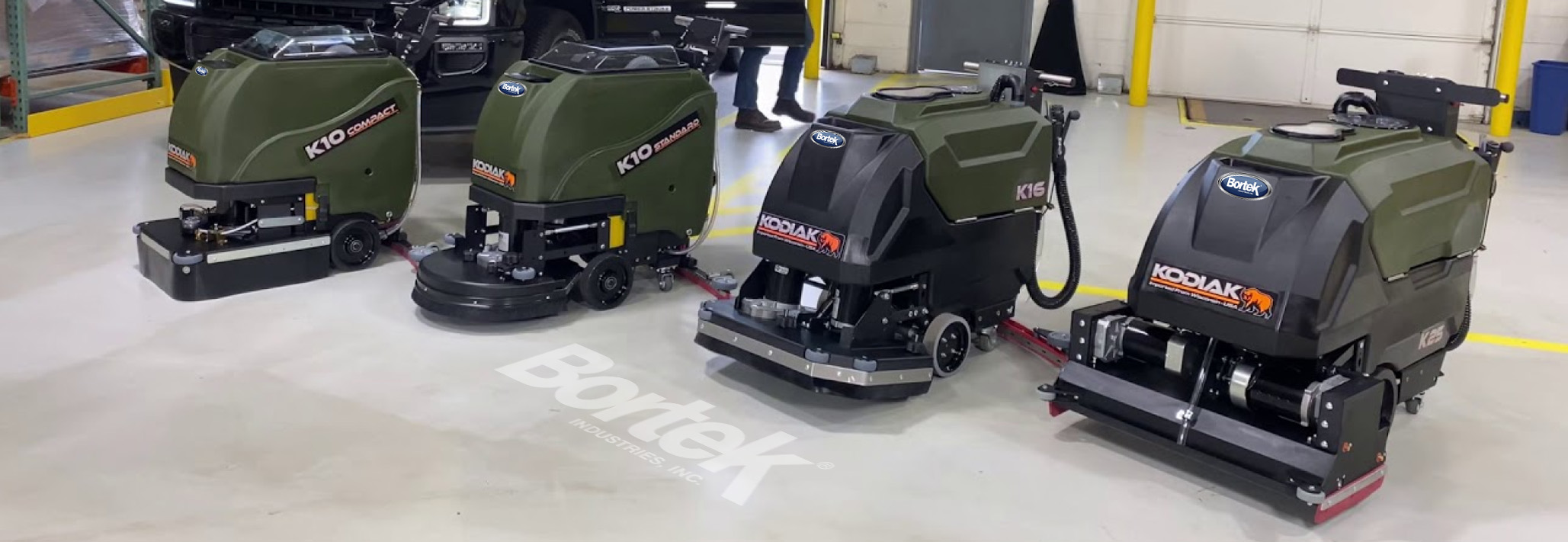Kodiak Floor Scrubbers- Affordable Cleaning Machines- USA- Bortek Industries Inc